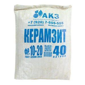 keramzit frakcija 10 20 mm 40 l 300x300 -купить строймаркет молоток Подольск, Чехов, Климовск, Щербинка, Троицк, Кузнечики