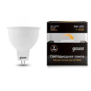 lampa gauss gu5 3 5vt 2700k 300x300 -купить строймаркет молоток Подольск, Чехов, Климовск, Щербинка, Троицк, Кузнечики