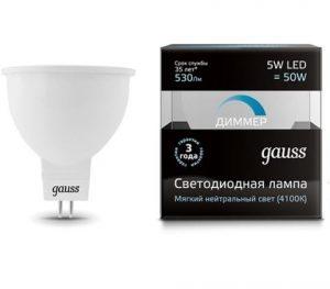 lampa gauss gu5 3 5vt 4100k 300x263 -купить строймаркет молоток Подольск, Чехов, Климовск, Щербинка, Троицк, Кузнечики