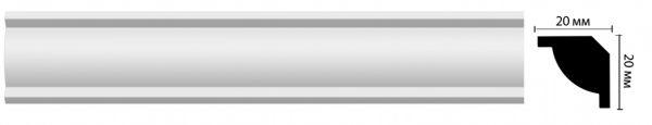 plintus potolochnyj d132 decomaster -купить строймаркет молоток Подольск, Чехов, Климовск, Щербинка, Троицк, Кузнечики