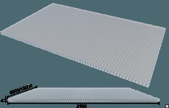 sotovyj polikarbonat 4 mm prozrachnyj 6 metrov -купить строймаркет молоток Подольск, Чехов, Климовск, Щербинка, Троицк, Кузнечики